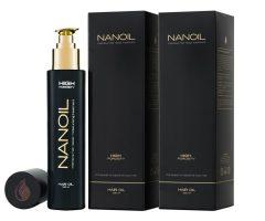 voor het haar zorgen met olie Nanoil